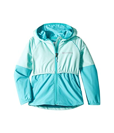 Columbia Kids Hidden Canyontm Softshell Jacket (Little Kids/Big Kids) (Gulf Stream/Geyser) Girl