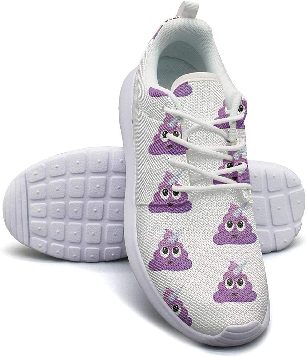 Gjsonmv Unicorn Poop Emoji mesh Lightweight shoes for Women Comfortable Sports Gym Sneakers shoes
