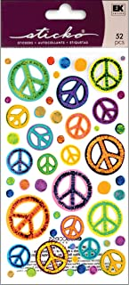 Sticko EK Success 52-00209 Sketchy Peace Signs Stickers