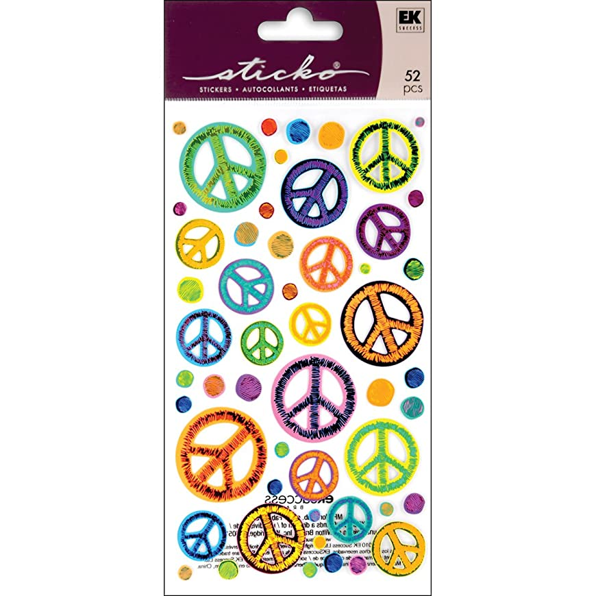 Sticko EK Success 52-00209 Sketchy Peace Signs Stickers hnxyvrii828
