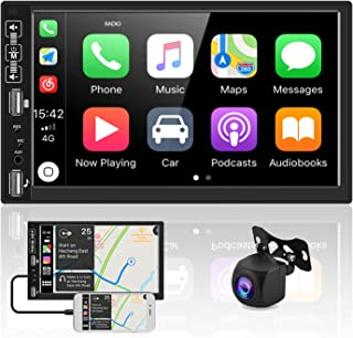 $89 » Sponsored Ad - Double Din Car Stereo Audio Receivers with Apple D-Play Bluetooth AHD Backup Camera 7 Inch Touch Screen Car...