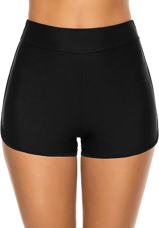 WSVVMQY 2021 Women High Waisted Bikini Swim Pants Shorts Bottom Swimsuit Swimwear Bathing