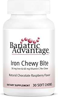 Bariatric Advantage Iron Chewy Bite Chocolate Raspberry Truffle (30 mg iron, 60 mg vitamin c) 30 count