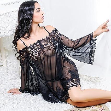 LI SHI XIANG SHOP Pijamas Sexy Lace Transparent Pijamas Mujer ...