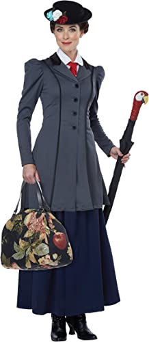 California Costumes Women's English Nanny - Adult Costume Adult Costume, Gray/Navy, Extra Small