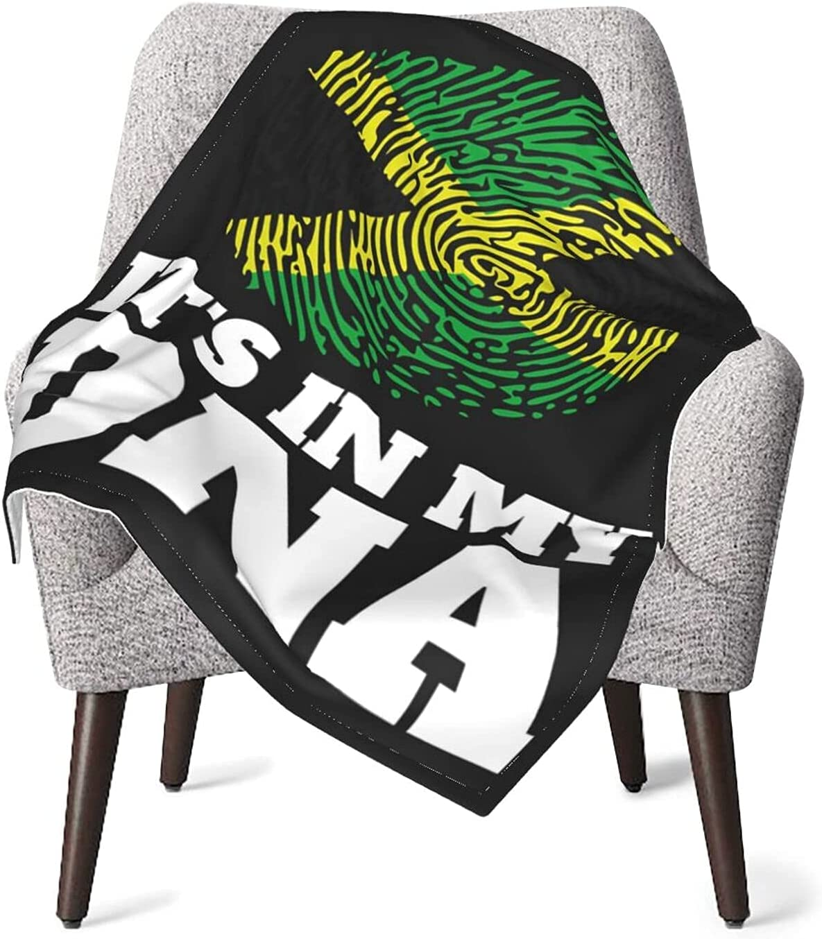 It's Our shop OFFers the best service in My DNA Jamaican Tampa Mall Fingerprint Air Throw Blankets Warm Cozy