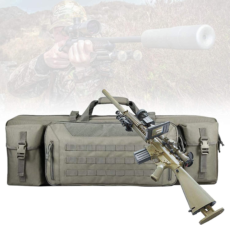 NYCUABT Funda de Rifle táctico, Airsoft Case con protección de separación Central, Gran Capacidad, Resistente a los arañazos, Bolsa de Caza multifunción para Disparar el Transporte de Armas de Fuego,
