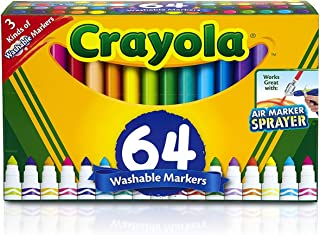 Crayola Washable Markers, 64 ct. Variety Set, Gel Markers, Broad Line Markers, Window Markers, Back-to-School Gift