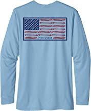 Over Under Tidal Tech Shotgun Flag Long Sleeve Performance T-Shirt