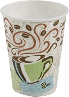 Dixie PerfecTouch, 5338CD, Coffee Haze, 8 oz. Insulated Paper Hot Cup by GP PRO (Georgia-Pacific) (Case of 20 Sleeves, 50 ...