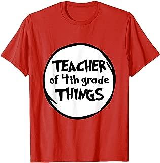 Teacher of 4th Grade Things Funny Educator Tshirt
