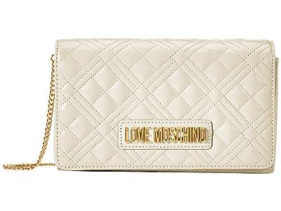 LOVE Moschino Quilted Crossbody (Powder) Handbags