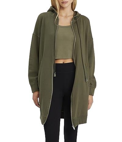 Sanctuary City Coat Fleece Zip-Up Long Hoodie