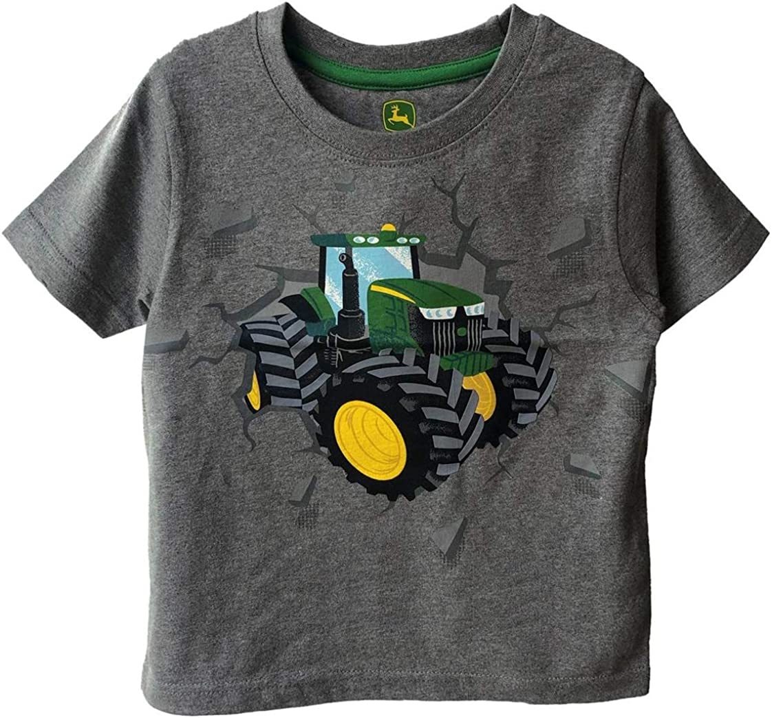 John Deere Gray Toddler Tractor Short Sleeve T-Shirt Sizes 2T 3T 4T