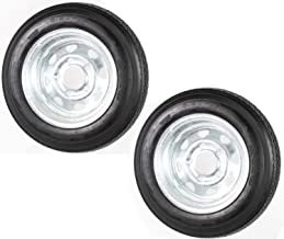 2-Pk eCustomrim Trailer Tire Rim 4.80-12 12 in. Load C 5 Lug Galvanized Spoke