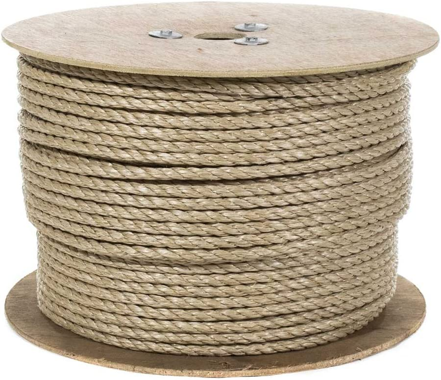 Crafts and Landscaping All Purpose ProManila Cord for Decor 1//2 Inch x 25 Feet UnManila Polypropylene Rope Cordage Tug of War Rope Sporting