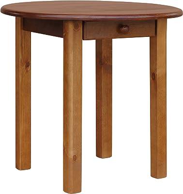 koma Multistore 2002 Table ronde en pin massif avec tiroir 90 cm