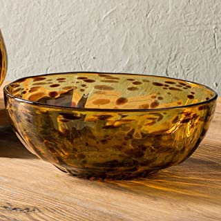 Classic Tortoise Recycled Glass Serving Bowl - 4.25 H x 10.5 Diameter, 100 oz. capacity