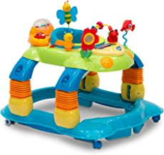 Delta Children Lil' Play Station 3-in-1 Activity Walker, Blue/Green