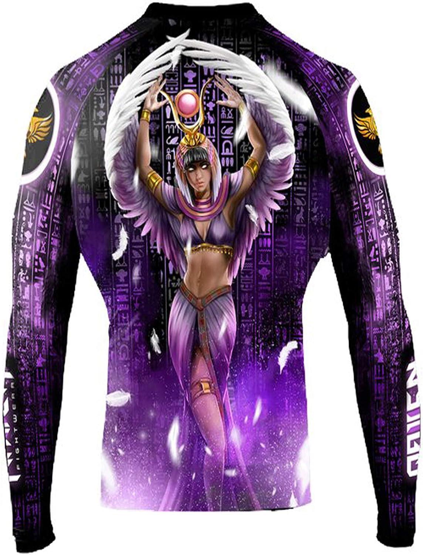 Raven Fightwear Women's The Gods of Egypt Aset Rash Guard BJJ MMA Black