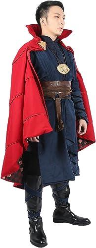 Docteur Combinaison Cosplay Costume Manteau Adulte Hommes VêteHommests HalFaibleeen DéguiseHommest Deluxe Dr. Tenue & Ceinture