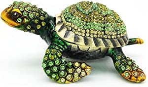 YU FENG Turtle Trinket Box Turtle Figurine Jewelry Boxes Hinged Trinket Boxes