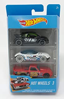 2016 Hot Wheels 3 Series 1:64 Diecast Vehicle - Black VW Beetle Bug - White Snow Stormers Golden Arrow - Red Circle Trucker