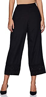 global desi Women's Straight Fit Pants (CO18BTRLBLACKM_Black_Medium)
