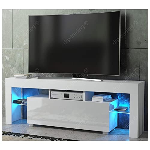 White High Gloss Tv Unit Amazon Co Uk