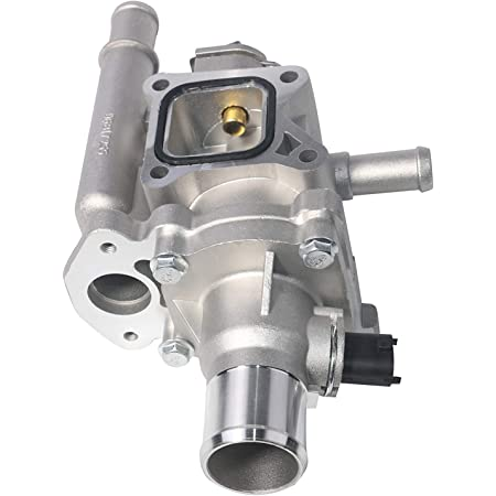 Coolant Thermostat and Housing Assembly with Sensors - Compatible with Chevy Cruze, Limited, Trax, Sonic 1.8L & 1.6L - Replaces 25192228, 55564890, 15-81816, 902-033, 55579951 - Full Aluminum