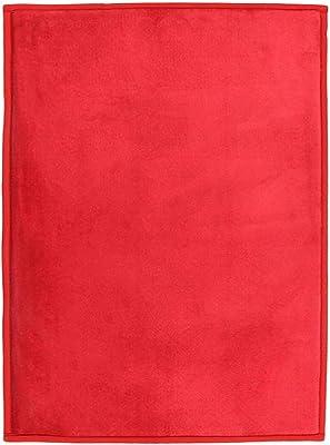 Tapis Extra-Doux Effet Velour, 230cm x 160cm, Rouge