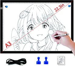 Light Box for Tracing- Light Board for Diamond Painting Art Ultra Thin Light Pad for Drawing Sketching Animation Stencilli...