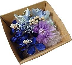 ハーバリウム 花材 キット あじさい かすみ草 シルバーデージー プリザーブドフラワーキット (ブルー)