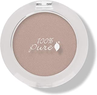 100% PURE Pressed Powder Eye Shadow (Fruit Pigmented), Flax Seed, Shimmer Eyeshadow, Buildable Pigment, Easy to Apply, Nat...