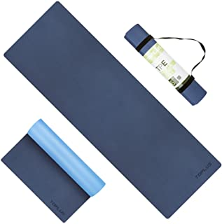 TOPLUS Yoga Mat - Upgraded Yoga Mat Eco Friendly Non-Slip Exercise & Fitness Mat with Carrying Strap, Workout Mat for All ...