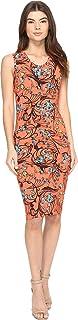Nicole Miller Women's Floral Swirl B Jersey Tuck Dress