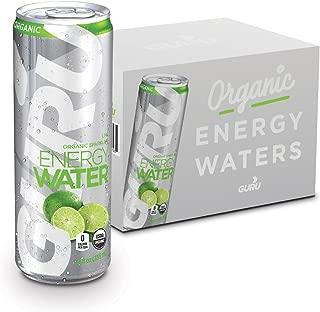 GURU Organic Energy Sparkling Water, Green Tea & Stevia, Lime, 12 Ounce (Pack of 12), Sugar Free
