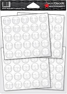 Award Decals Number Stickers for Helmets (Football, Baseball, Softball, Hockey, Lacrosse, Etc.)