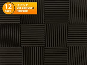 Acoustic Foam Panels To Soundproof Home Studios, Gaming Bedrooms, Sound Dampening Absorbing Deadening Materials with Self-Adhesive for Walls, Doors, Windows and Ceilings, Microphone Isolation Shield