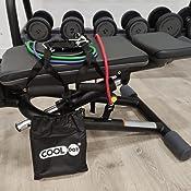 COOLDOT Bandas Resistencia Fitness Elásticas Pro Set 11uds Correas Tensión Ejercicio Entrenamiento Crossfit Gimnasio Acondicionamiento Físico ...