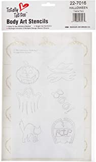 product image for BADGER Totally Tattoo Body Art Stencils Halloween Theme Pack