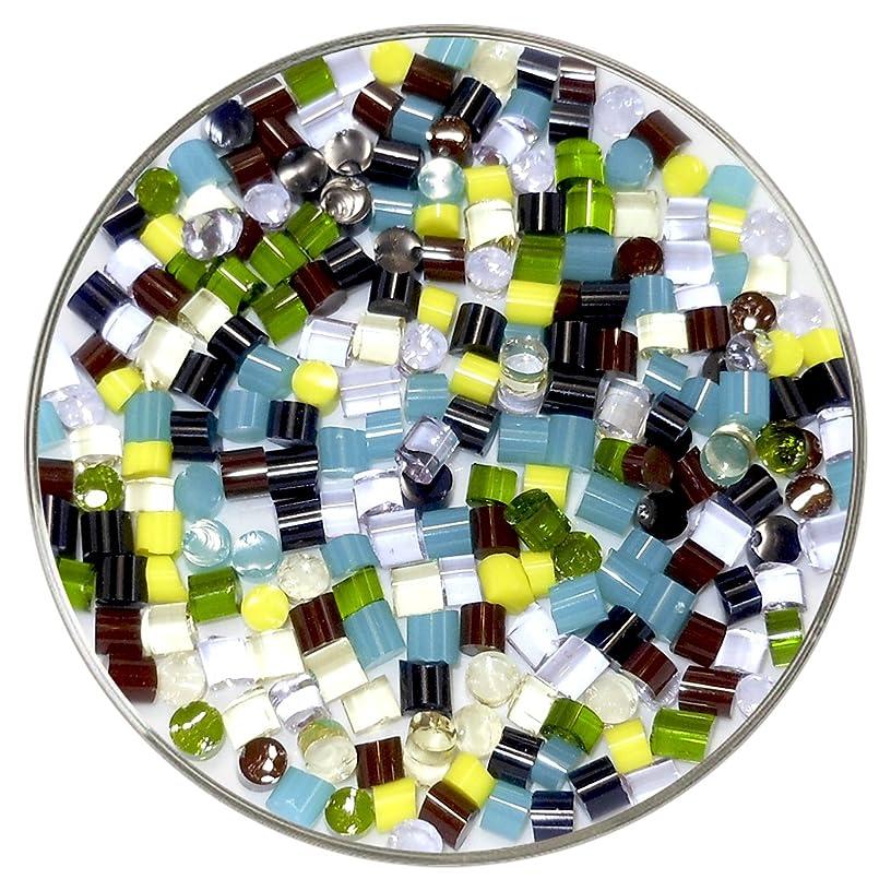 Rainbow Designer Fusible Glass Dot Mix - 90COE - 1oz - Made From Bullseye Glass