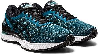 ASICS Men's Gel-Nimbus 22 Knit Running Shoes, 14M, Magnetic Blue/Black