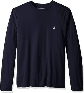Men's Long Sleeve Solid Crew Neck T-Shirt