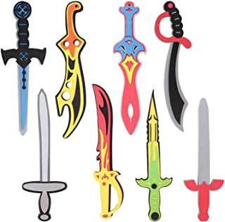 Liberty Imports Foam Swords 8 Pack Weapons Toy Set for Kids + 8 Unique Ninja Pirate..