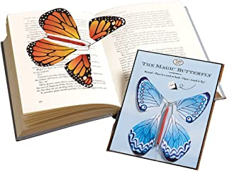 TOP MALIBU, INC. Magic Wind Up Paper Butterflies for Cards or Books - Set of Two
