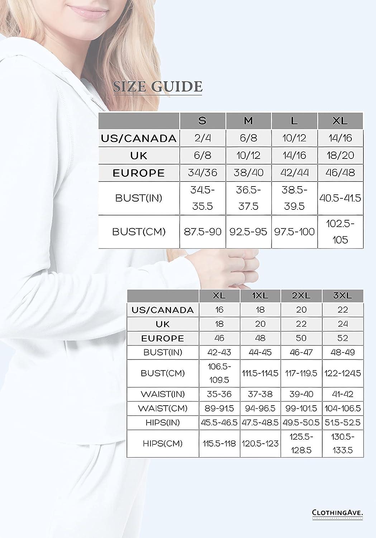 ClothingAve. Women's Lightweight Zip-Up Hoodie Moisture-Wicking Sweatshirt Jacket Upgraded Zippers
