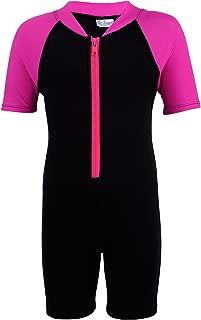 Tuga Girls Thermal Shorty 1.5mm Neoprene/Spandex Wetsuit 1-14 Years, UPF 50+