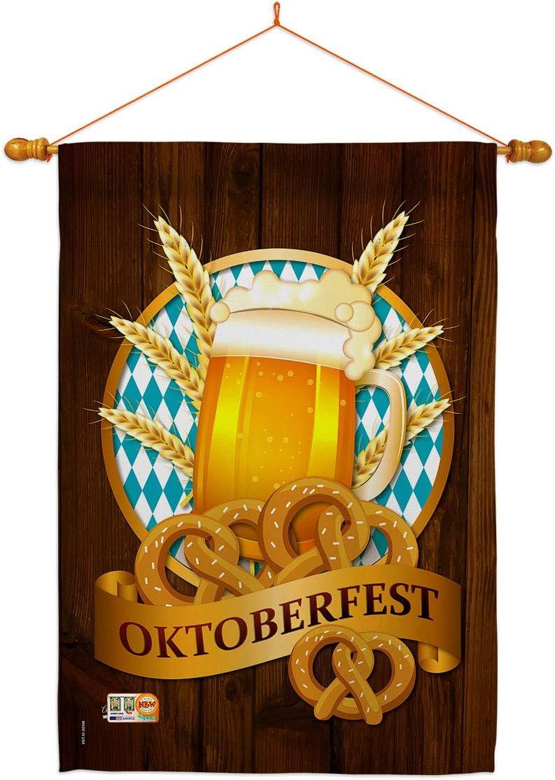 Angeleno 定番キャンバス Heritage Beer Oktoberfest House Dowel 与え Beverage Set Flag