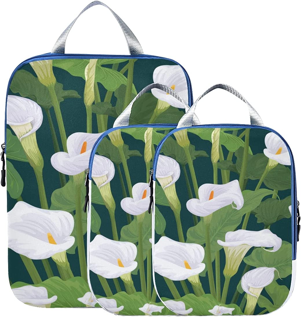 Traveling Accessories Elegant Fashionable Calla Suitcase Lily Or Topics Special sale item on TV